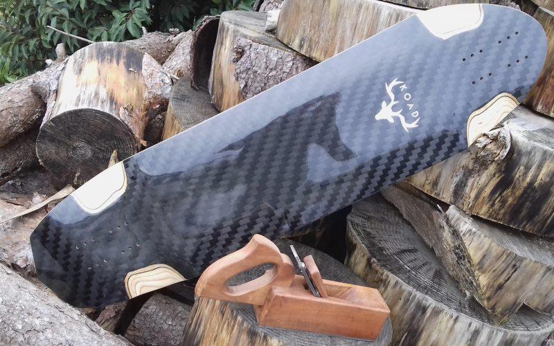 KOAD Planche de skate en bois, fabriquée dans le Morbihan