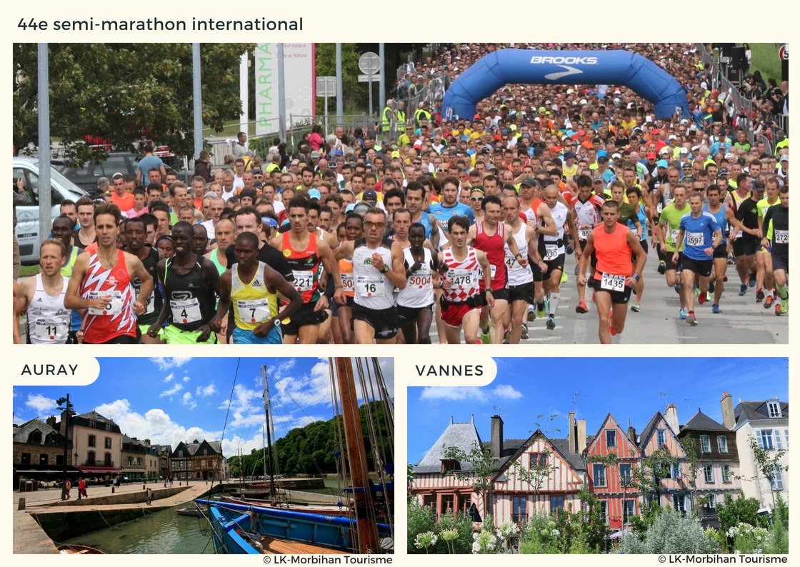 44e édition du semi-marathon international entre les villes d'Auray et de Vannes