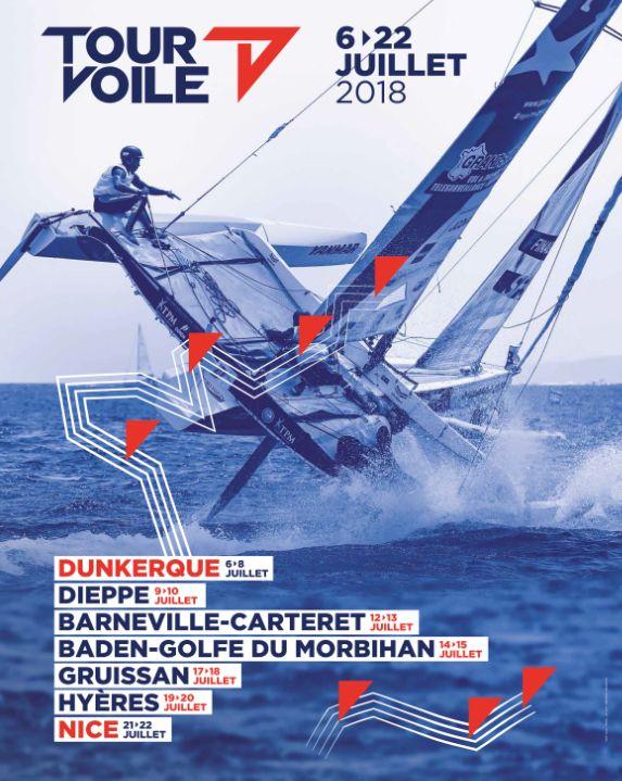 Affiche du Tour Voile 2018 - escale à Baden dans le Golfe du Morbihan