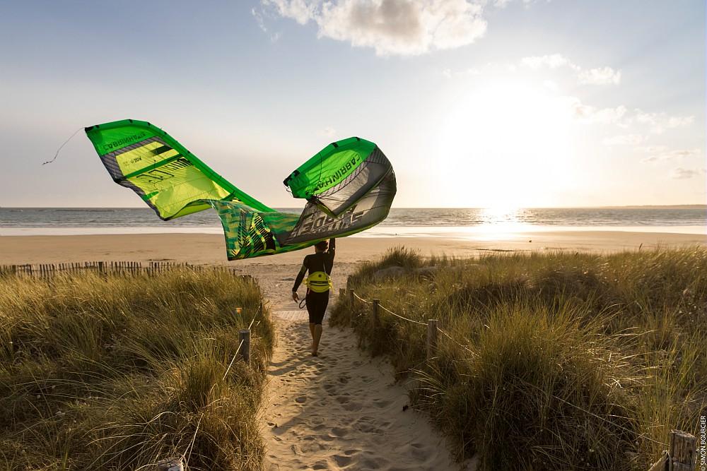 kite surf à Guidel © S. Bourcier