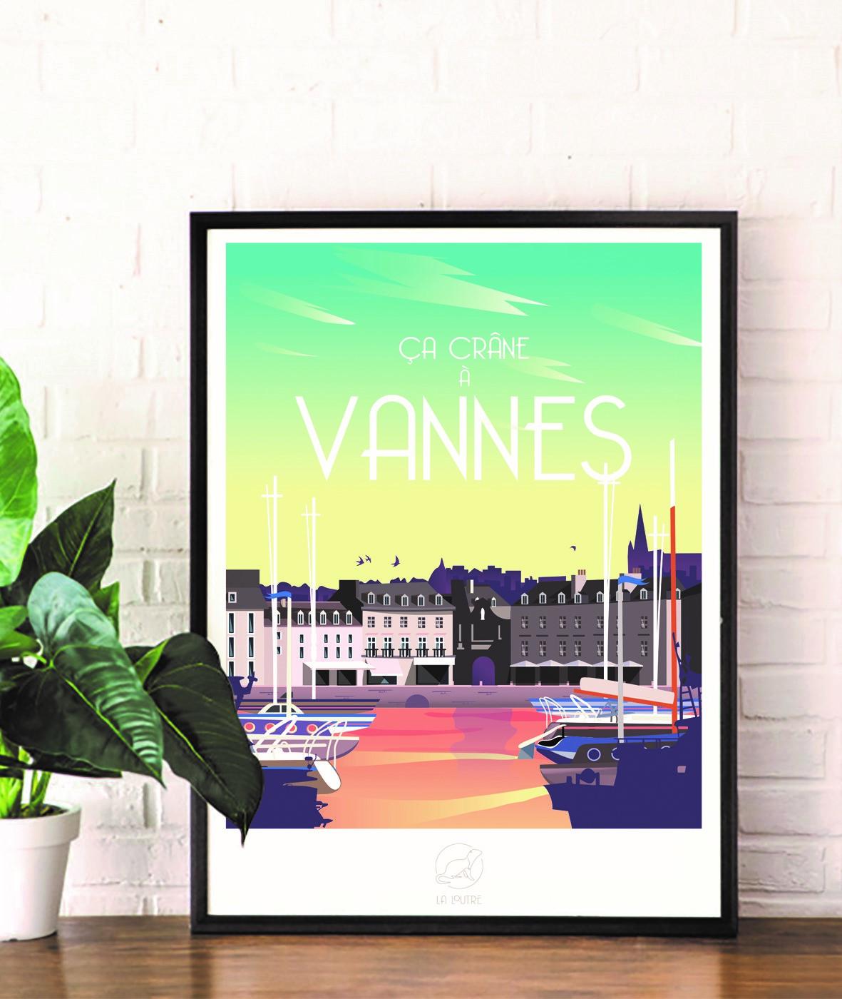 Affiche régionaliste port de Vannes - La Loutre