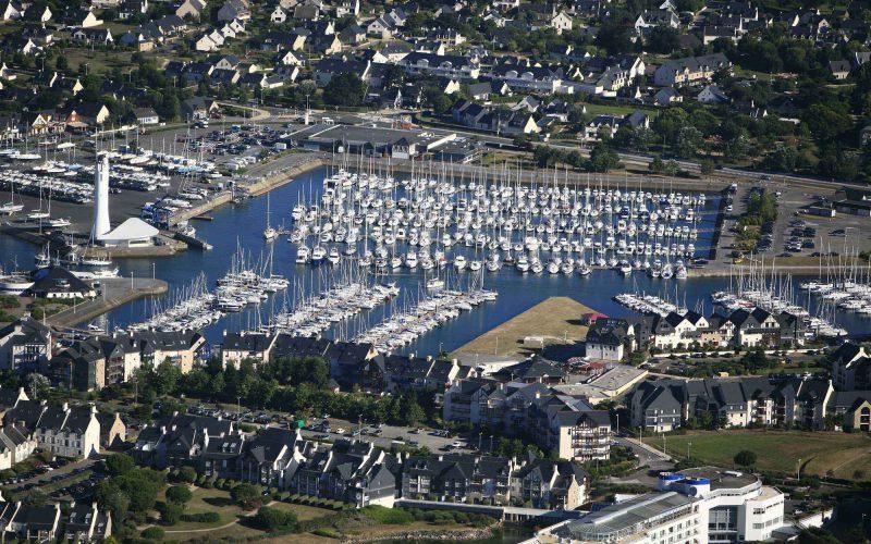 Vue aérienne du Port du Crouesty à Arzon-Golfe du Morbihan