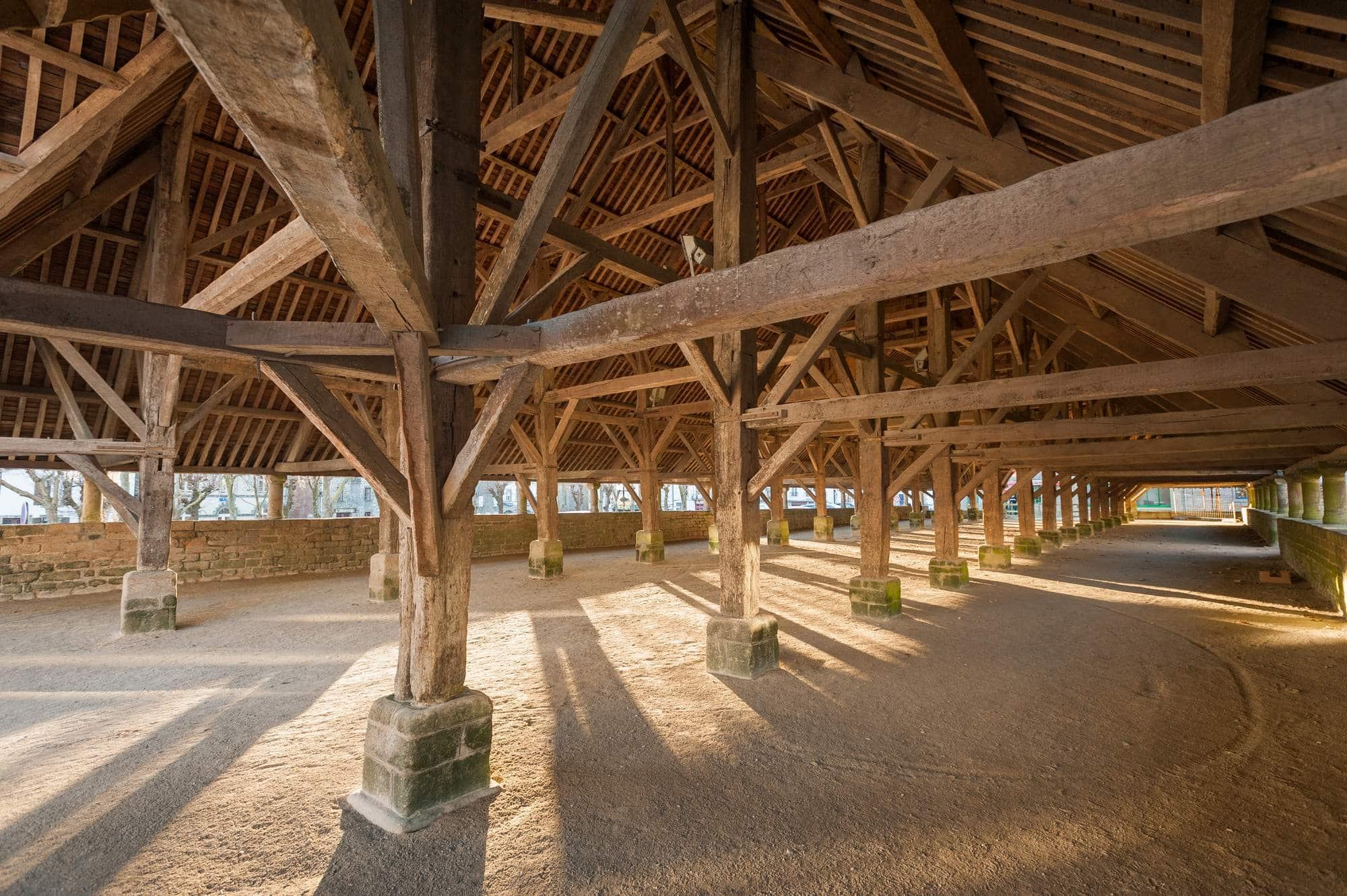 Les halles du Faouët, parmi les plus grandes de Bretagne © Emmanuel Berthier