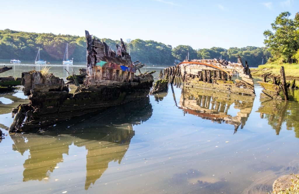Cimetière de bateaux de Kerhervy © L. Kersuzan