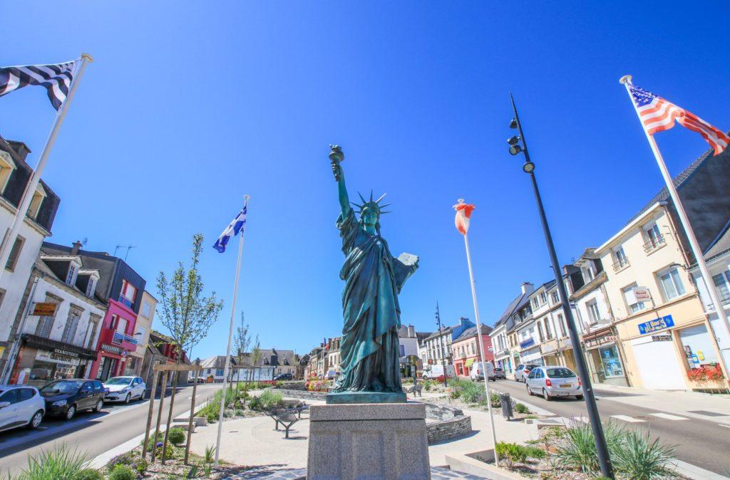 La Statue de la liberté à Gourin © L. Kersuzan