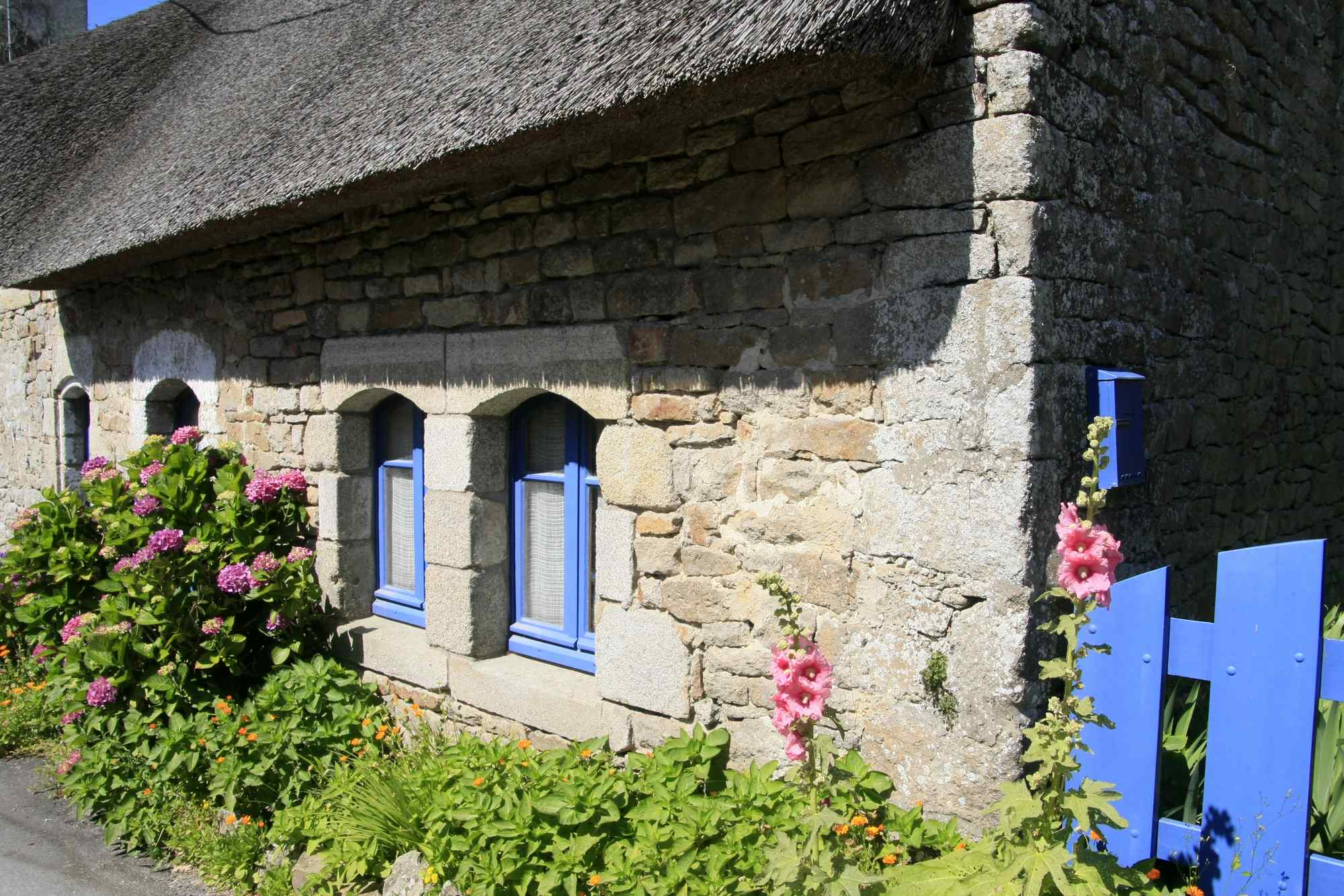 Les maisons typiques de l'Ile aux moines