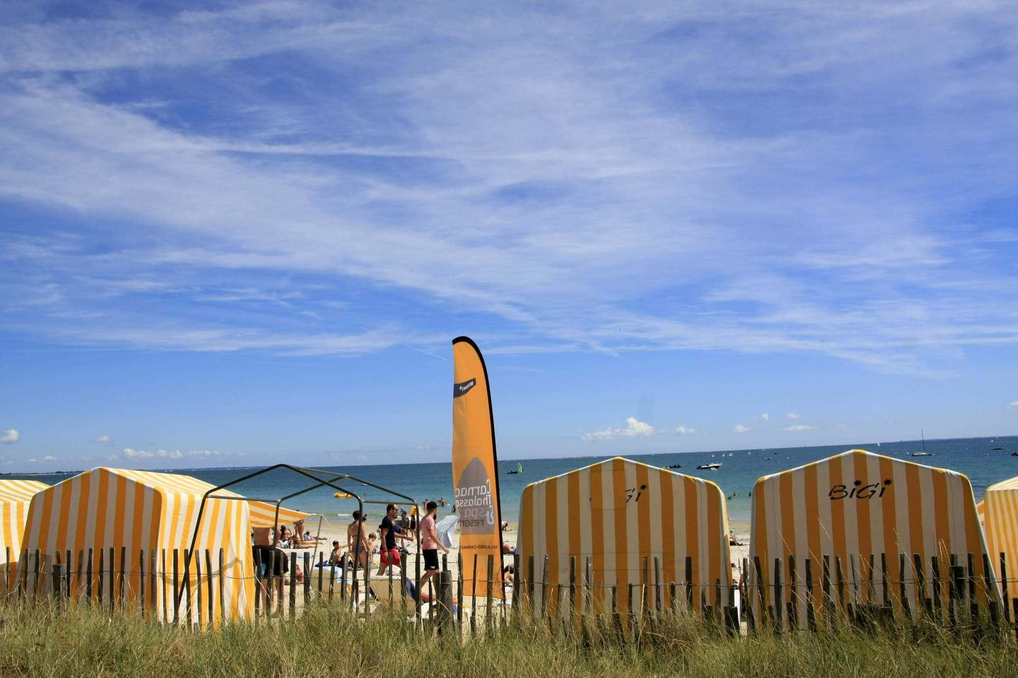 Cabanes de plage à Carnac
