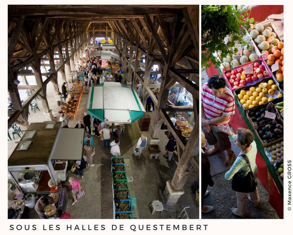 Le marché sous les halles de Questembert ©Maxence Gross