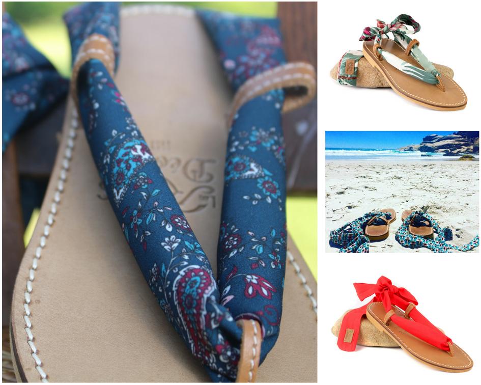 Sandales aux rubans interchangeables fabriquées en France