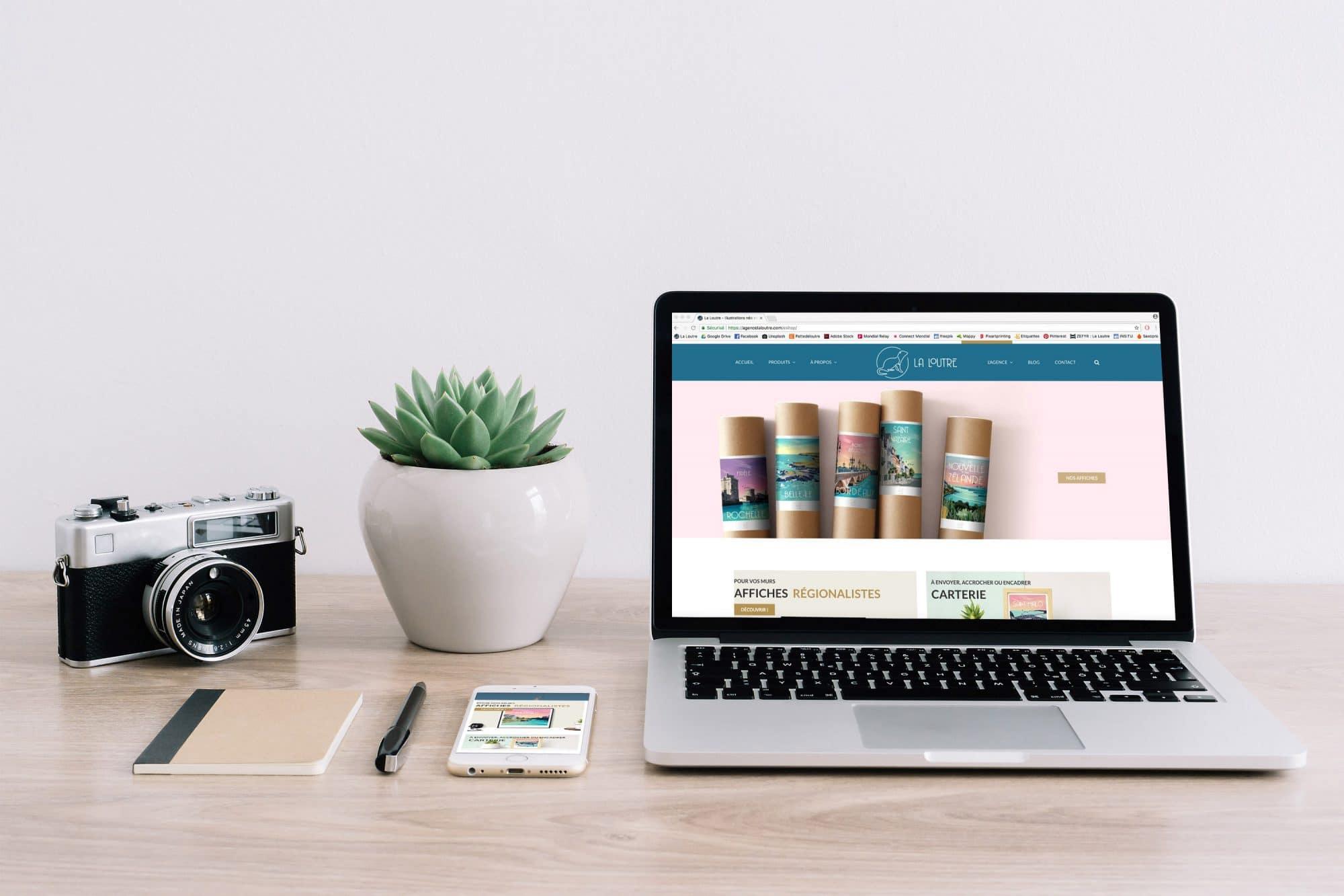 Articles de papeterie, accessoires déco et textile © La Loutre