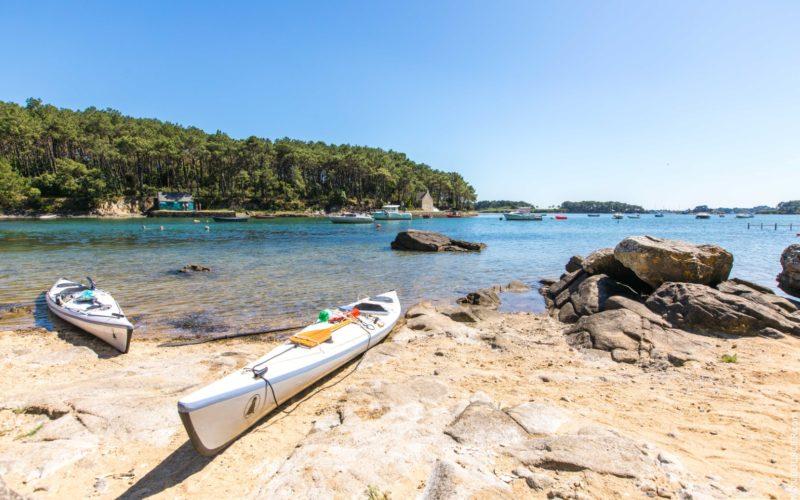 Kayak dans le Golfe du Morbihan © S. Bourcier