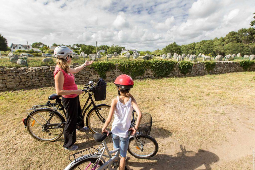 Balade à vélo autour des mégalithes de Carnac © S. Bourcier
