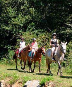 Balade à cheval au centre équestre Mané Guernehué à Baden